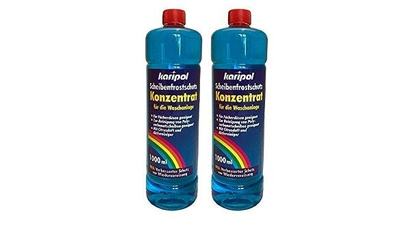 2 X 1liter Karipol Scheibenfrostschutz Konzentrat Für Waschanlage Frostschutzmittel Auto