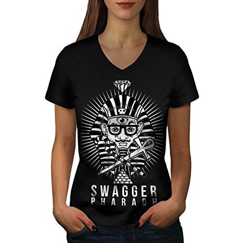 Stolzieren Pharao Mode Damen M V-Ausschnitt T-shirt   Wellcoda (Pharao Kostüm Männlich)