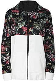 Local Pink Floral Contrast Ladies Jacket