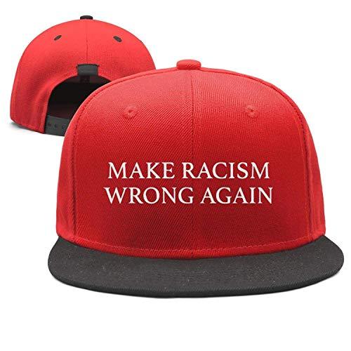 Machen Rassismus Wieder falsch Denim Stoff Baseball Cap Verstellbarer Street Rapper Hut ()
