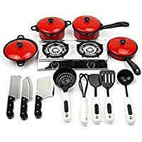 Preisvergleich für JinZhiCheng 13PCS/Set Kinder Spielen Spielzeug Küche Kochen Lebensmitteln Utensilien Pfannen Töpfe Kochgeschirr