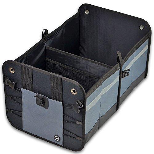 GLOBEPROOF Kofferraumtasche | PKW-Klappbox ideal als Faltbox-Einkaufskorb & Kofferraum-Organizer fürs Auto | XXL & ultrastark in verschiedenen Farben mit 50 Liter Volumen (32x38x60cm)