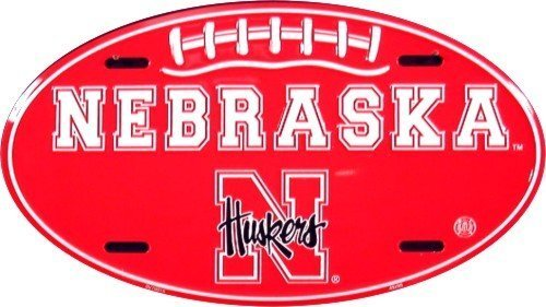 Nebraska Corn Huskers Oval NCAA Tin License Plate by Tag City