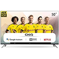 "CHiQ Televisor Smart TV LED 50"", Resolución 4K UHD, HDR10/HLG, Android 9.0, WiFi, Bluetooth, Netflix, Prime Video, HDMI ARC, USB - U50H7A"