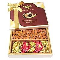 Chocholik Diwali Gift Box - Delicious Almonds And Baklawa Diwali Celebration Dry Fruit Box