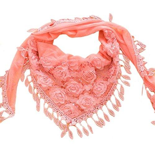 Sciarpa, Longra Trigonometrica del capo della sciarpa ricamata delle donne (Rosa)