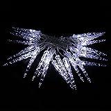HJ® 40 LED Eiszapfen Eisregen Lichterkette in Kaltweiß für Innen