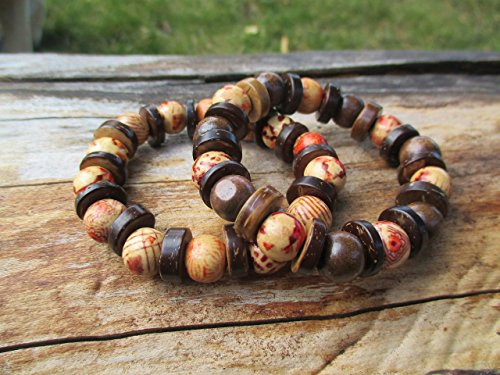 boho-brown-wooden-beaded-chunky-bracelet-duo-with-gift-bag