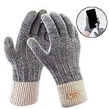 Fascigirl Handschuhe Damen Winterhandschuhe Touchscreen Handschuhe Fingerhandschuhe Sport Warme Windstopper Handschuhe Strick Thinsulate Handschuhe für Skifahren Radfahren Arbeiten und SMS