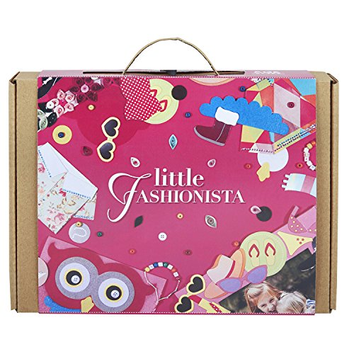 LITTLE FASHIONISTA 3-in-1 Girl Craft Kit: For Girls Ages 5-10 years: Contains a Felt Owl Pouch, Quilling, and Girl Power Bracelets