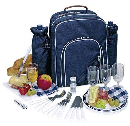 Picknickrucksack mit Inhalt für 4 Personen mit integrierter Kühltasche - 2