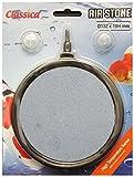 Classica AS065Ausströmer-Stein Keramik für Koi-Teich oder Aquarium 132mm rund mit 2Luftschlauch-Saugnäpfen