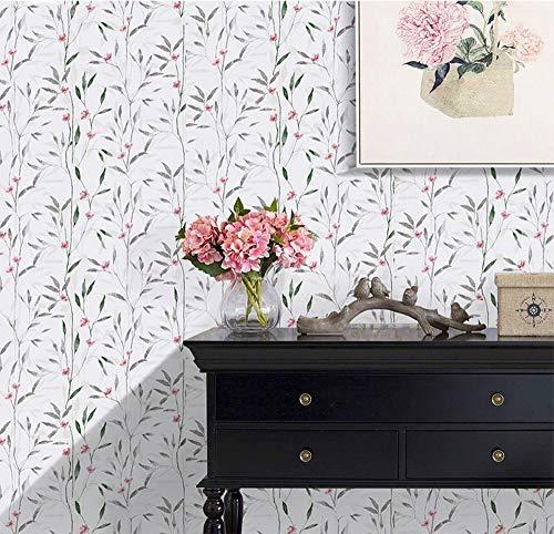 TaoGift Dekorativer Blumenkräuterkontakt-Papier-Tapete, selbstklebend, für Schubladen, Regal, Schränke, Kommode, Handwerk 17.7x196 Inches -