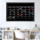 Wandaufkleber ,Frashing Trockener Löschen Brett Tafel Monats Magnetkalender Tafel Wand Aufkleber Tafel Aufkleber