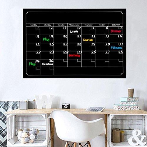 Für Kids Tag-planer (Wandaufkleber ,Frashing Trockener Löschen Brett Tafel Monats Magnetkalender Tafel Wand Aufkleber Tafel Aufkleber)