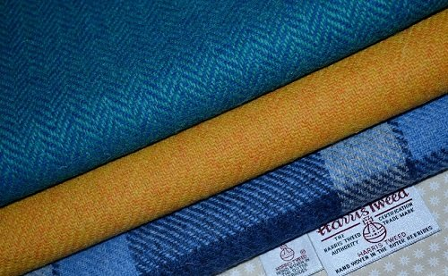 HARRIS TWEED-Stoff aus 100% reiner Schurwolle, Bundle 3 x 36,5 x 25 cm auch...