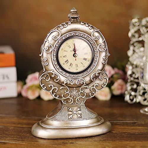 RJJ Harz Handwerk Hauptdekorationen Ornamente Europäischen Geschnitzten Palast Römisch Römisch Uhr Großhandel Tischuhr genau