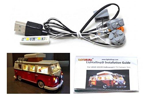 LED-Beleuchtungsset für Lego 10220 Volkswagen T1 Wohnmobil auch Lego 21001 Lego Licht Kit Led Lego Lichter Lego Lichter Bausteine Lego kompatibel (Legos Light Up)