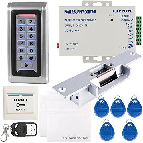 UHPPOTE komplett wasserdicht Metall Fall Stand-Alone Access Control Set & Wiegand 26 i/o & keine Modus Elektrische Strike Lock -