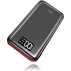 Batterie Externe 24000mAh Power Bank Aikove Chargeur Portable Deux Entrées & 3 Ports Haute Vitesse et Technologie Digi-Power pour iPhoneX/8Plus Samung S8 Tablette PSP D'autre USB Via Device