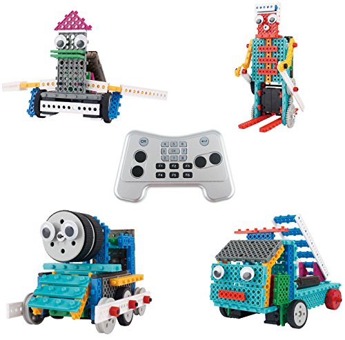 Building-Set-For-Kids-Ingenious-Machines-Remote-Control-Toy-Building-Kit-TG632-Awesome-Fun-Robot-Kit-Construction-Toy-by-ThinkGizmos-All-batteries-included-by-Thinkgizmos