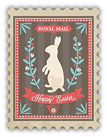 Happy Easter Royal Postage Stamp De Haute Qualite Pare-Chocs Automobiles Autocollant 8 x 12 cm