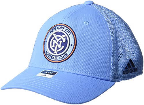 adidas MLS SP17 Fan Wear Tactel Trucker Flex Gap, Herren, MLS SP17 Fan Wear Tactel Trucker Flex Cap, blau, Large/X-Large Tactel Flex-cap