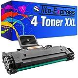 PlatinumSerie® 4x Toner-Patrone XL Schwarz kompatibel für Samsung ML-1610 ML-2010 ML-1610P ML-2015 ML-2020 ML-2510
