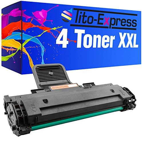 Preisvergleich Produktbild PlatinumSerie® 4x Toner-Patrone XL Schwarz kompatibel für Samsung ML-1610 ML-2010 ML-1610P ML-2015 ML-2020 ML-2510