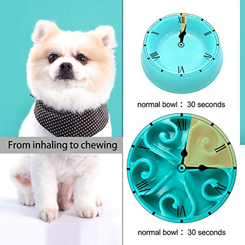 Slow-Feed-Dog-Bowl-Dog-Chew-Toy-WONTECHMI-Fun-Feeder-Slow-Bowl-Cat-Food-Water-Bowl-Pet-Interactive-Non-Skid-Halloween-Gift-blue