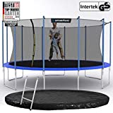 Kinetic Sports Outdoor Gartentrampolin Ø 488 cm, TPLS16, inklusive Sprungtuch aus USA PP-Mesh...