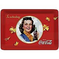 Platex 93112720929 Coca Cola Autumn - Bandeja (27 x 20 cm), diseño retro de Coca Cola con hojas de otoño