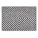 Livorio Designer Patchwork Kuhfell-Teppich - B120 x L180cm - schwarz weiß Quadratmusterung