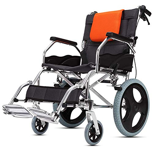 BD.Y Gute Qualität faltender Rollstuhl, Aluminiumlegierungs-Ultra Heller tragbarer älterer manueller Rollstuhl Wird Nicht aufgeblasen -