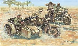 Italeri 6121S  - Segundo Deutsch Guerra Mundial Motos