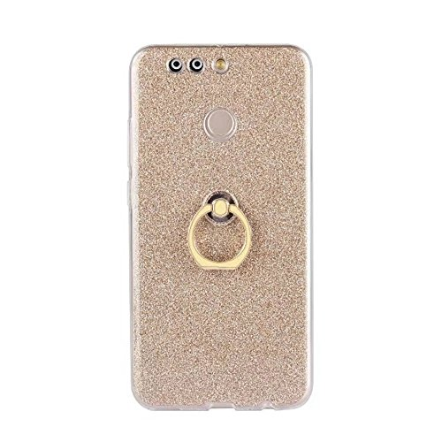 Soft Flexible TPU Back Cover Case Shockproof Schutzhülle mit Bling Glitter Sparkles und Kickstand für Huawei Hornor V9 ( Color : Blue ) Gold