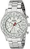DETOMASO Herren-Armbanduhr Firenze Chronograph Edelstahl Chronograph Quarz SM1624C-WH