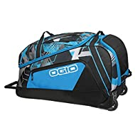 OGIO Big Mouth Wheeled Gear Bag - Hex in Black and Blue