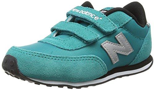 New Balance Ke410 Kids Lifestyle Velcro, baskets sportives bébé fille bleu (Teal/Grey)