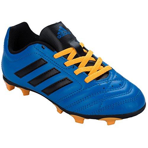 adidas Unisex-Kinder Goletto V Fg Fußballschuhe blau - schwarz - orange