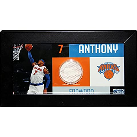 NBA New York Knicks Carmelo Anthony Player Collage Framed Photo with Game Used Uniform, 4 x 8-Inch