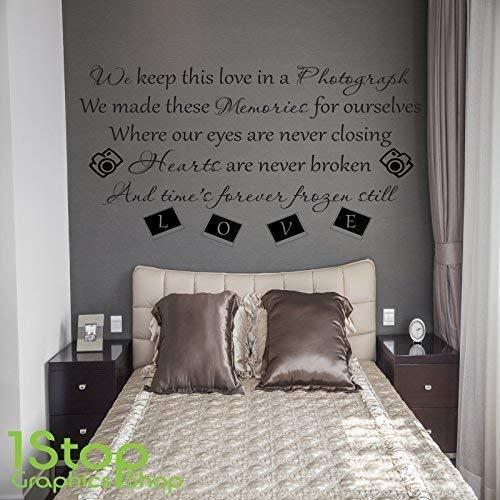 1Stop Graphics Shop - Ed Sheeran Photgraph Wandaufkleber - Schlafzimmer Lounge Wandkunst Aufkleber X416 - Weiß, Small 40cm x 66cm