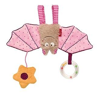 sigikid, Mädchen, Aktiv-Anhänger Fledermaus mit Rassel, Baby bite me, Rosa, 42208