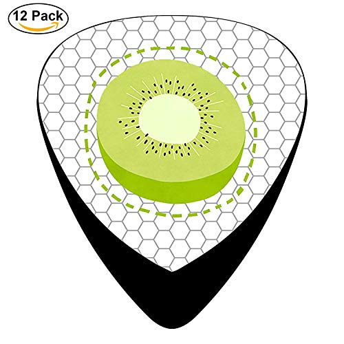 Yummy Kiwi Fruit Celluloid Electric Guitar Picks 12-pack -