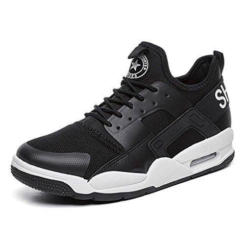 Sneaker Herren Jungen Basketballschuhe Hohe Sneakers Atmungsaktiv Ausbildung Outdoor Freizeit Sport Turnschuhe , black , EU39/UK6.5