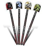 Star Wars Bleistifte mit Topper + Inspirierende Magnet