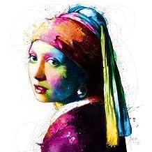 Imagen Terminada - Patrice Murciano: Vermeer Pop 70 x 70 cm