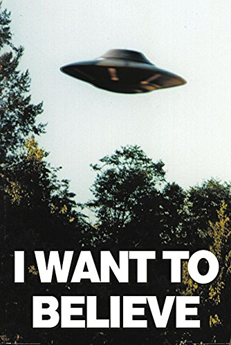 empireposter I Want to Believe-UFO-Filmposter Kino Movie x-Files Science Fiction Sci Fi 61x91,5 cm, Papier, bunt, 91.5 x 61 x 0.14 cm (Poster Science-fiction-movie)