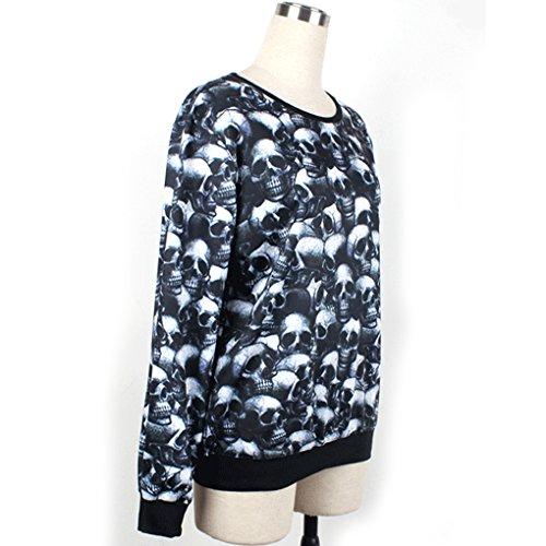 Thenice Damen Sweatshirt, Animalprint One size Intensive skull