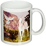 3dRose Unicorn and Dove Mug, 11-Ounce